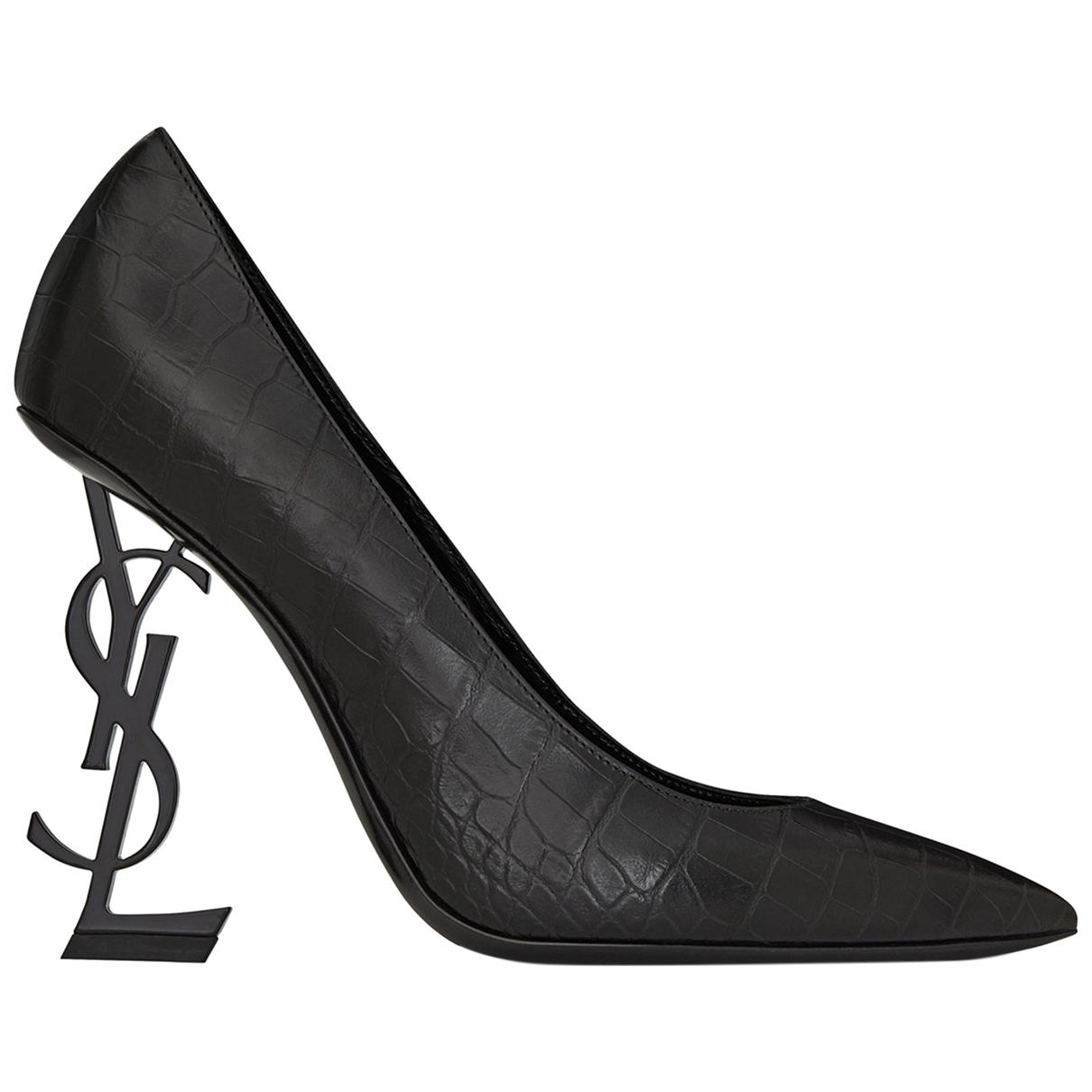 Saint Laurent - Escarpins Opyum pour femme en cuir - noir