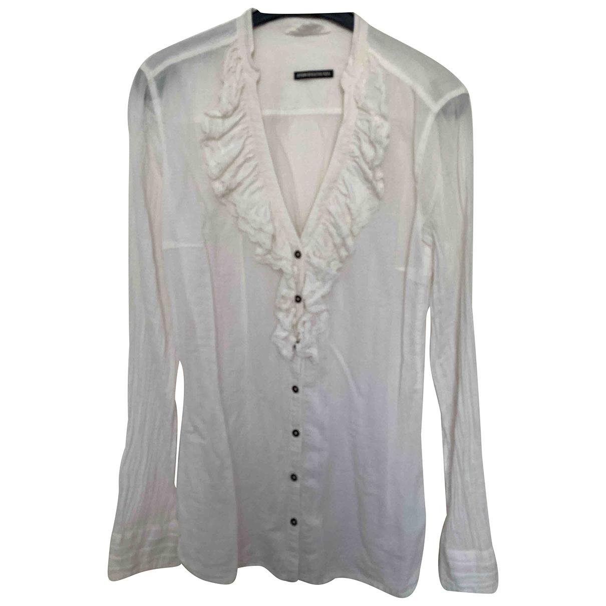 Drykorn - Top   pour femme en coton - blanc