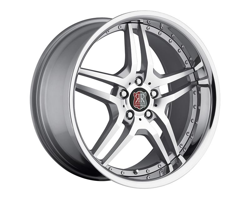 MRR Design Silver Machined Lip RW2 Wheel 18x9