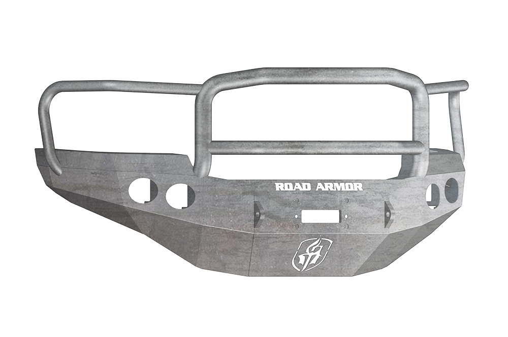 GMC Front Winch Bumper Round Light Ports 2500,3500 11-14 RAW Lonestar Guard Road Armor 38405Z Stealth Series