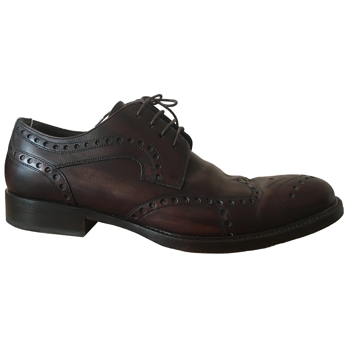 Dolce & Gabbana \N Brown Leather Lace ups for Men 41 IT