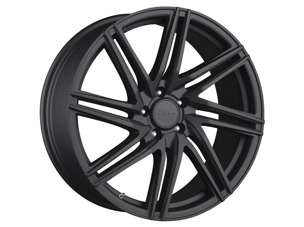 Drag DR-70 Flat Black Full Painted 16x7 4x100/114.3 40mm