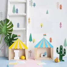 Pegatina de pared de niños con estampado de arbol