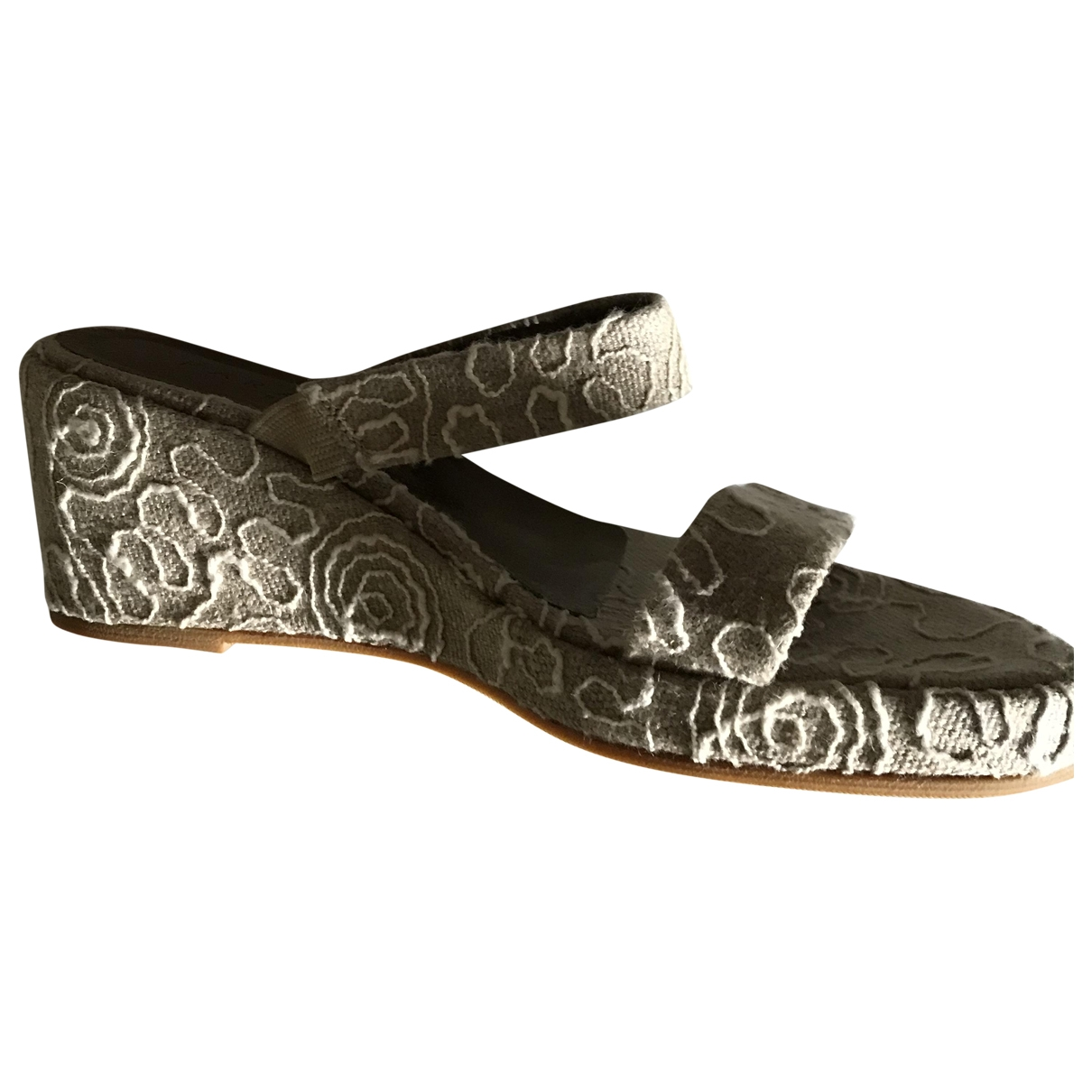 Non Signé / Unsigned \N Beige Cloth Sandals for Women 3 US
