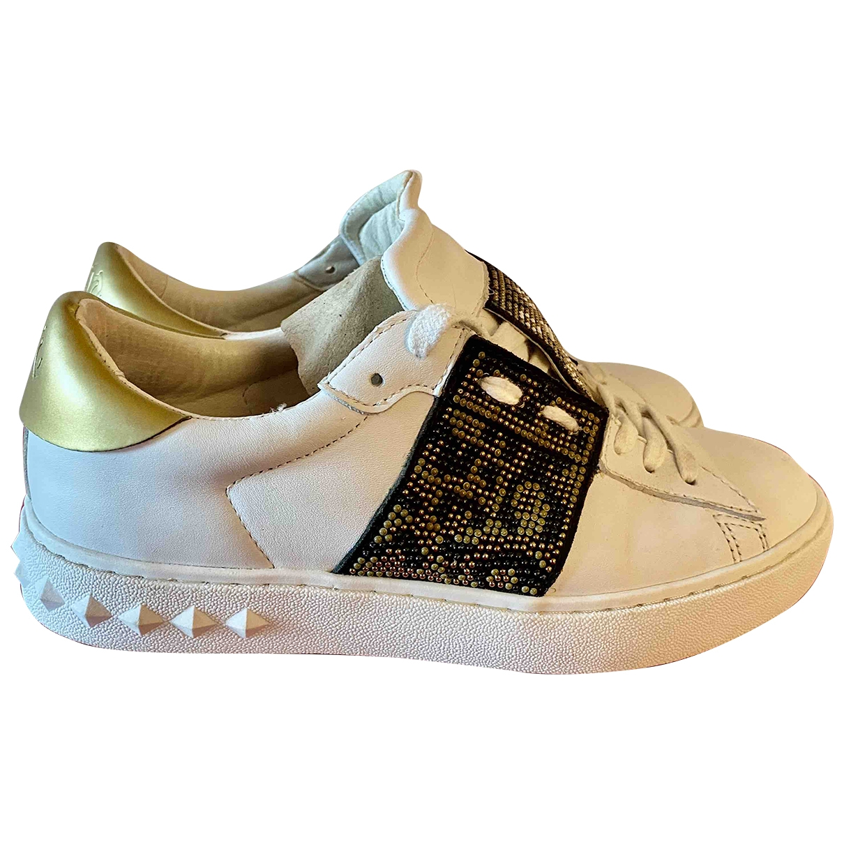Ash \N White Leather Trainers for Women 37 EU