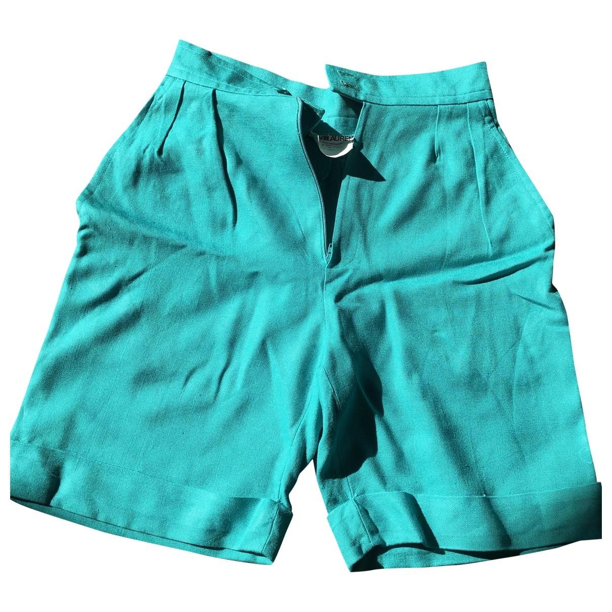 Yves Saint Laurent \N Shorts in  Tuerkis Viskose