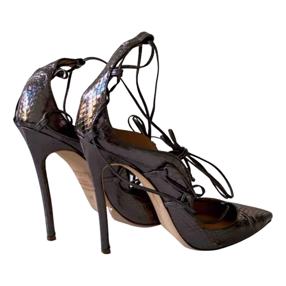 Dsquared2 - Escarpins   pour femme en cuir - bordeaux