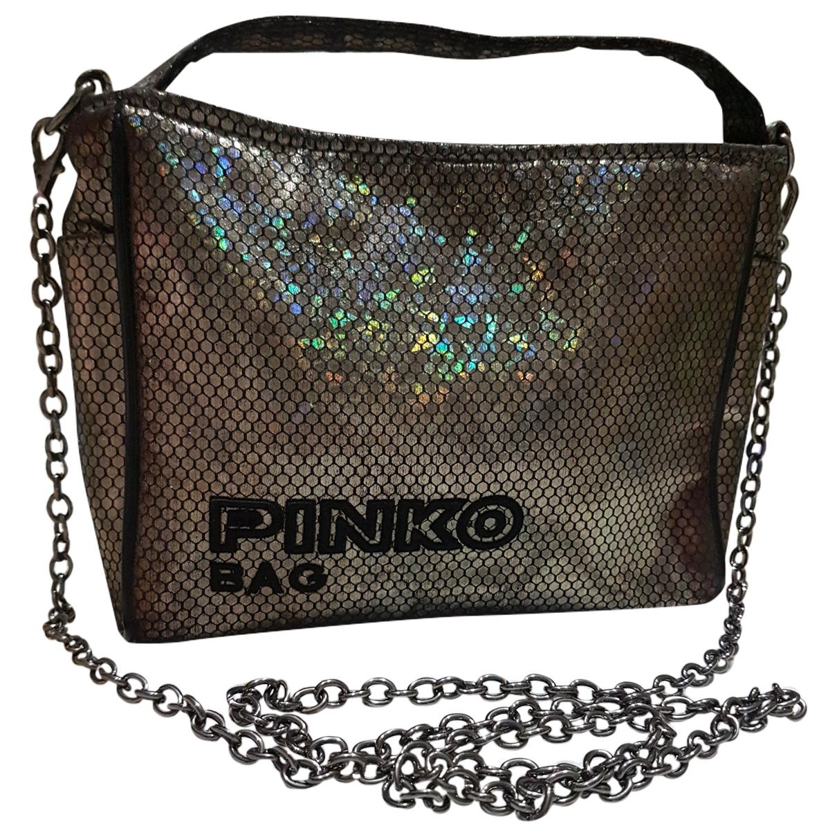 Pinko - Pochette   pour femme - metallise