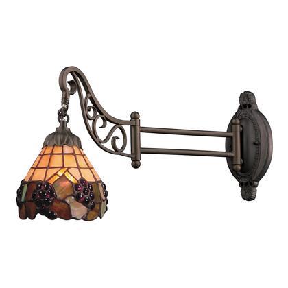 079-TB-07-LED Mix-n-Match 1-Light Swingarm Sconce in Tiffany Bronze -