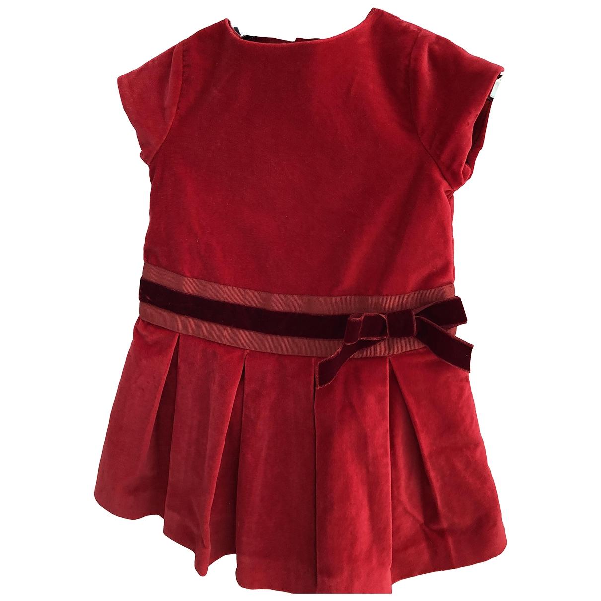 Jacadi \N Kleid in  Rot Samt