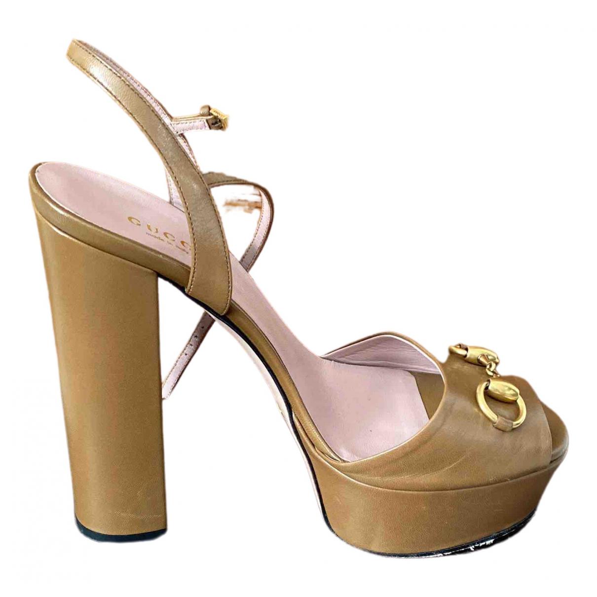 Gucci - Escarpins   pour femme en cuir - marron