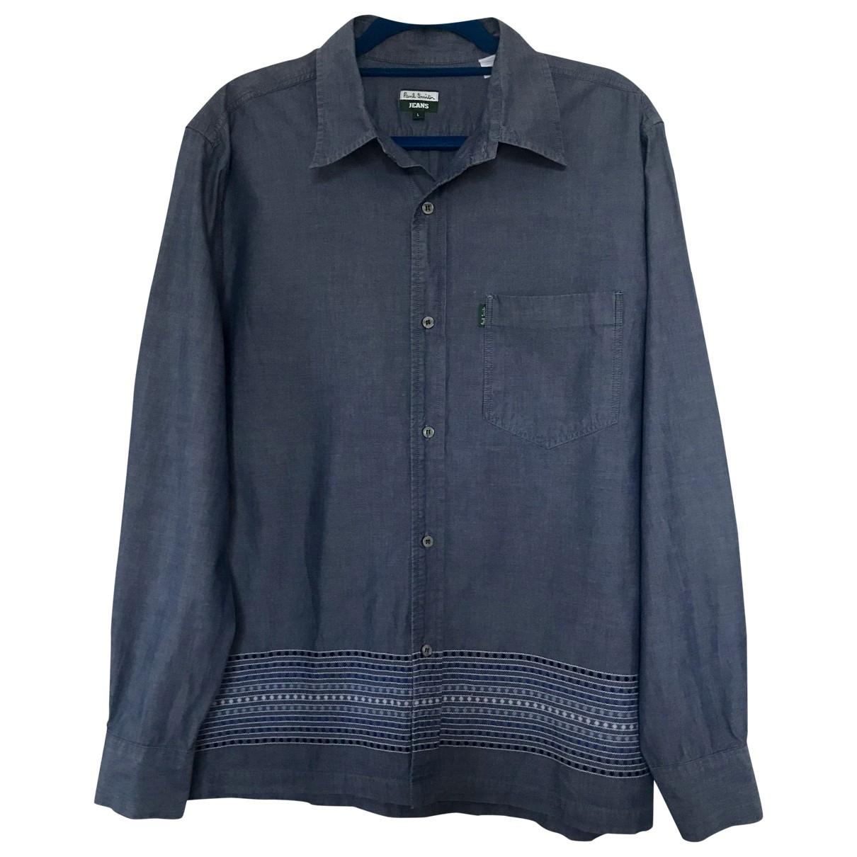 Paul Smith \N Blue Cotton Shirts for Men L International