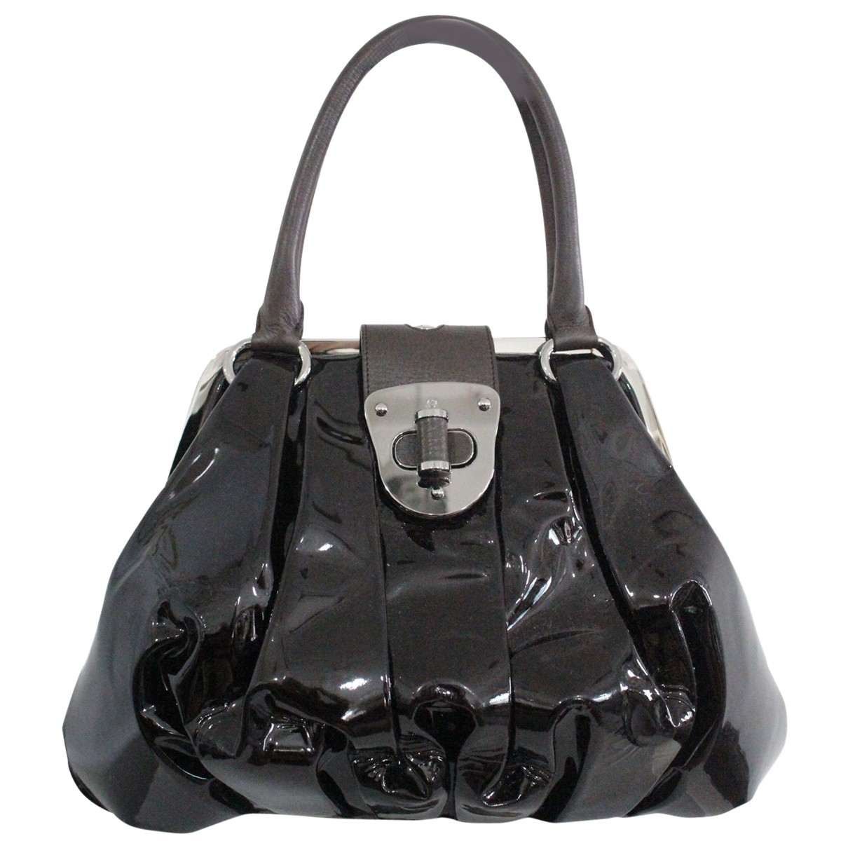 Alexander Mcqueen \N Brown Patent leather handbag for Women \N