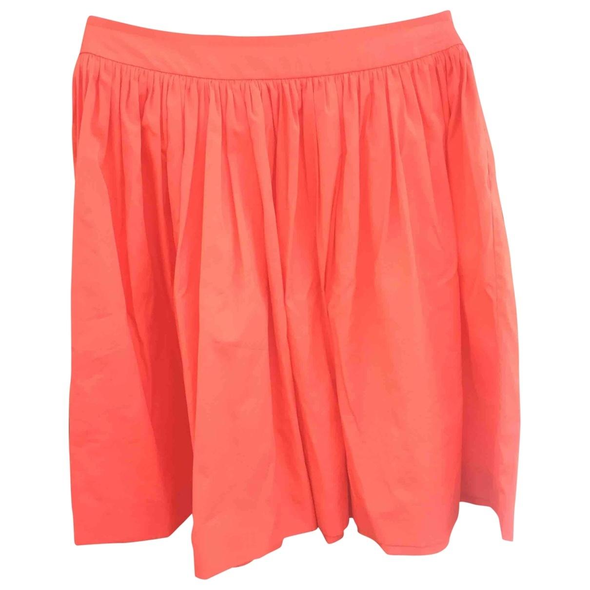 Prada \N Red Cotton skirt for Women 42 IT