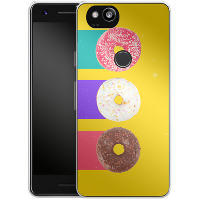 Google Pixel 2 Silikon Handyhuelle - Donuts von Danny Ivan