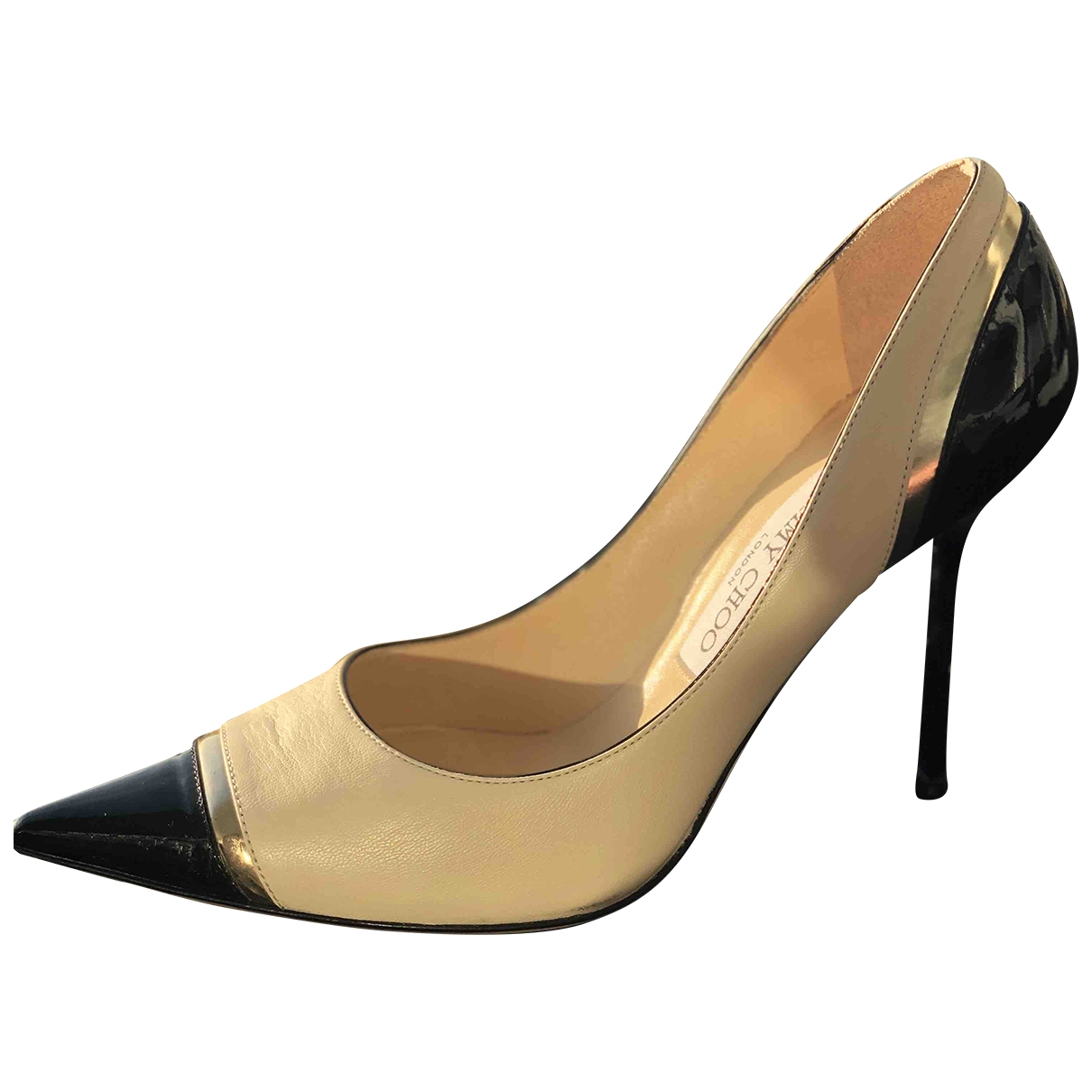 Jimmy Choo \N Beige Leather Heels for Women 37.5 EU
