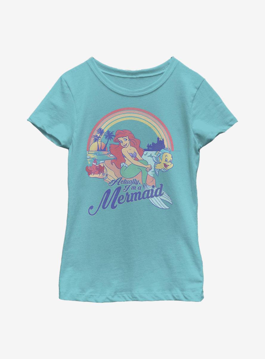 Disney The Little Mermaid Actual Mermaid Youth Girls T-Shirt