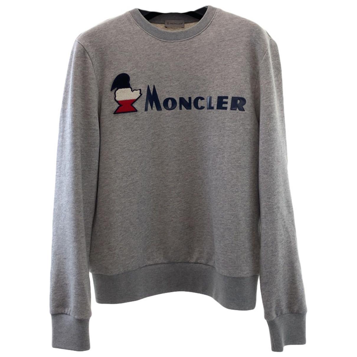 Moncler - Pulls.Gilets.Sweats   pour homme en coton - gris