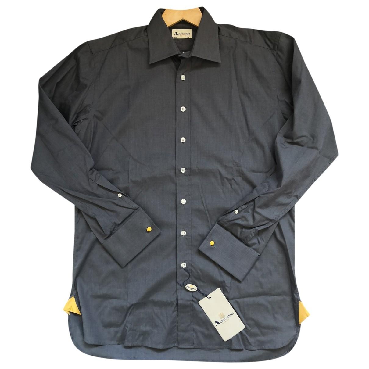 Aquascutum - Chemises   pour homme en coton - gris