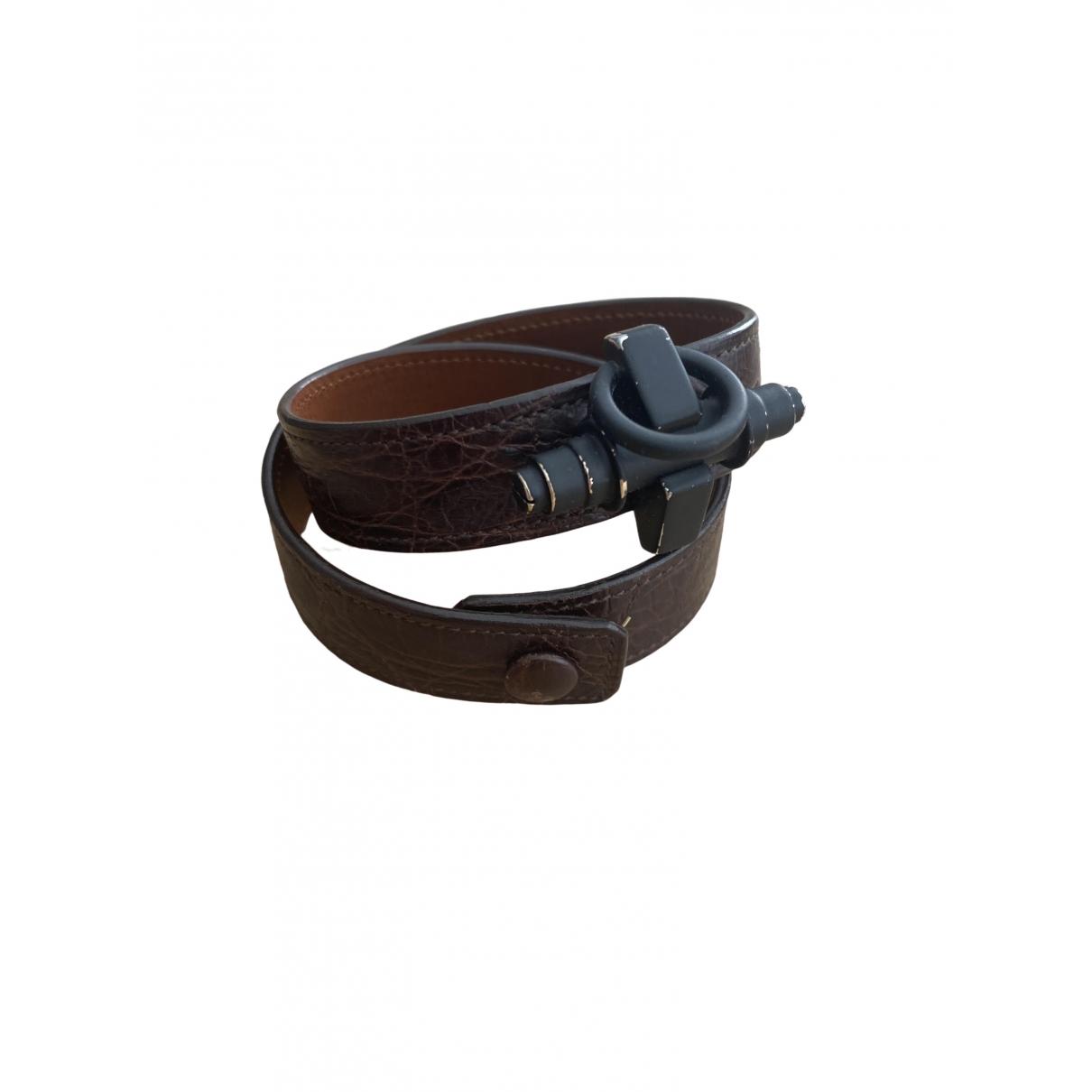 Givenchy - Bracelet Obsedia pour femme en cuir - marron