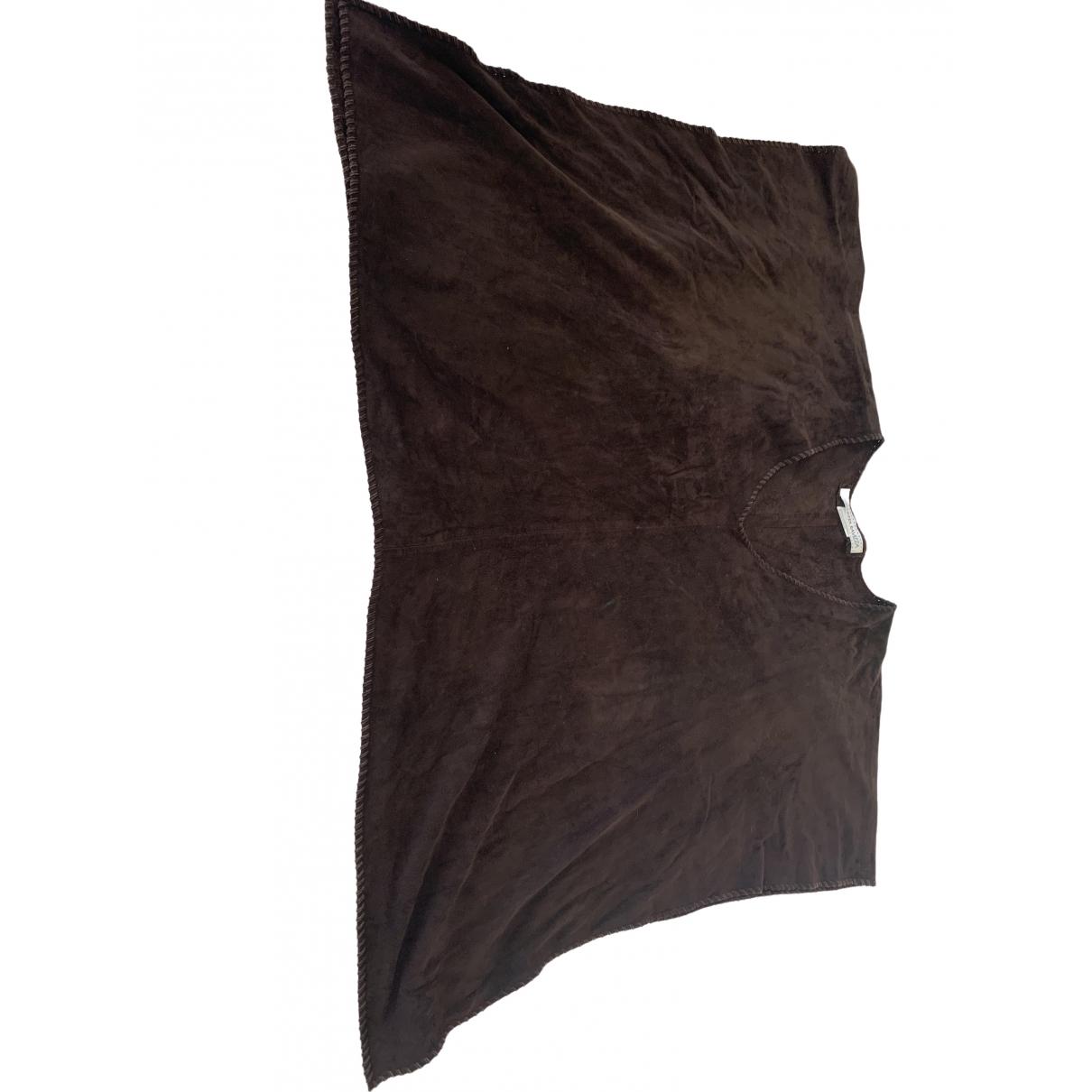 Simonetta Ravizza \N Brown Linen  top for Women One Size IT