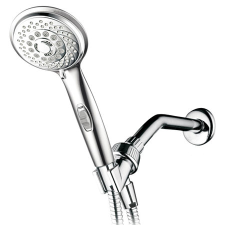 HotelSpa AquaCare Series 7-Setting Hand Shower Luxury Convenience Package with Patented ON/OFF Pause Switch, One Size , Silver