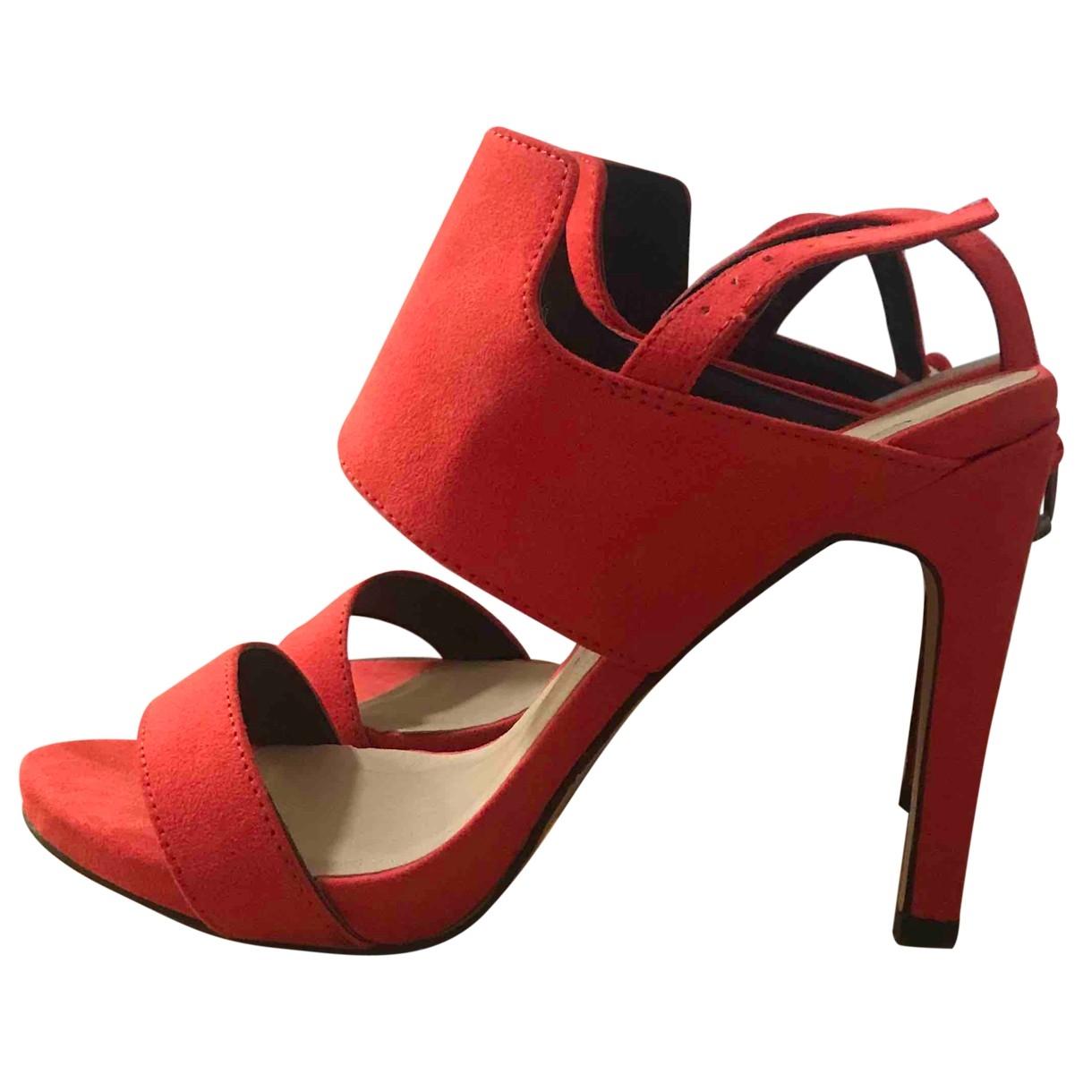 Non Signé / Unsigned \N Orange Suede Heels for Women 38.5 EU