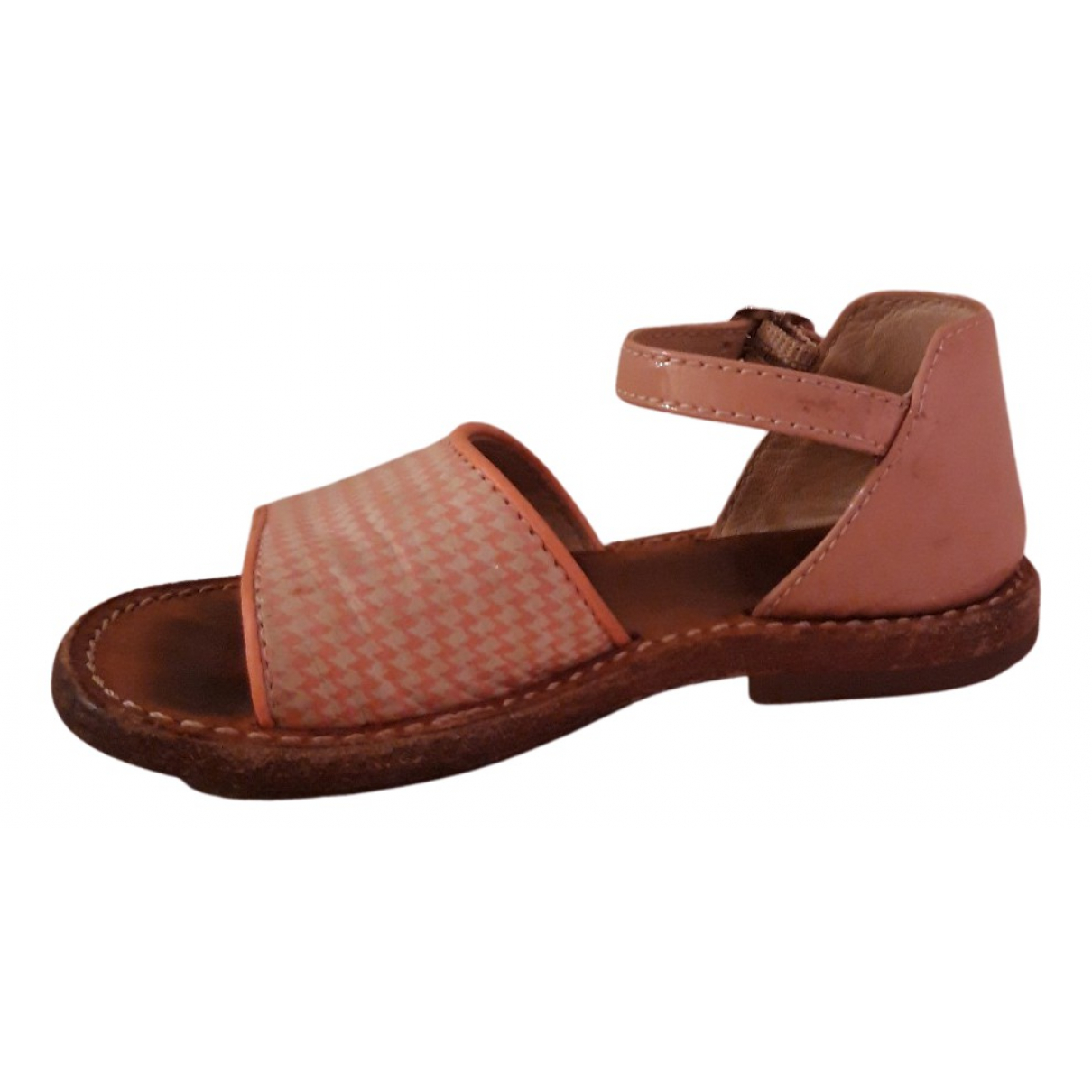 Gallucci N Pink Leather Sandals for Kids 23 FR