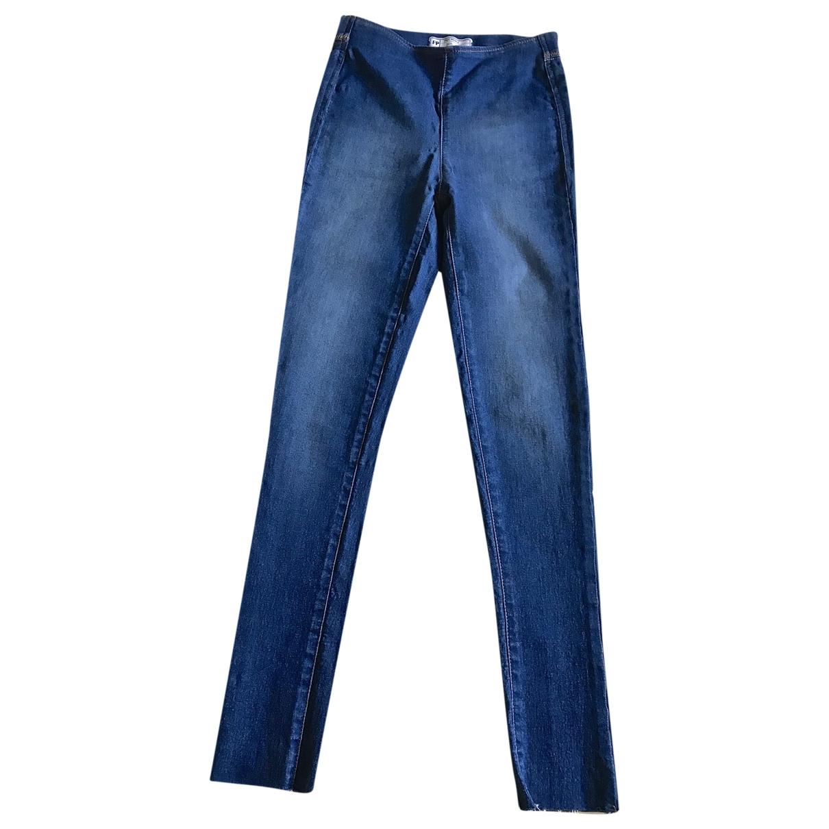 Free People \N Blue Denim - Jeans Trousers for Women XS International