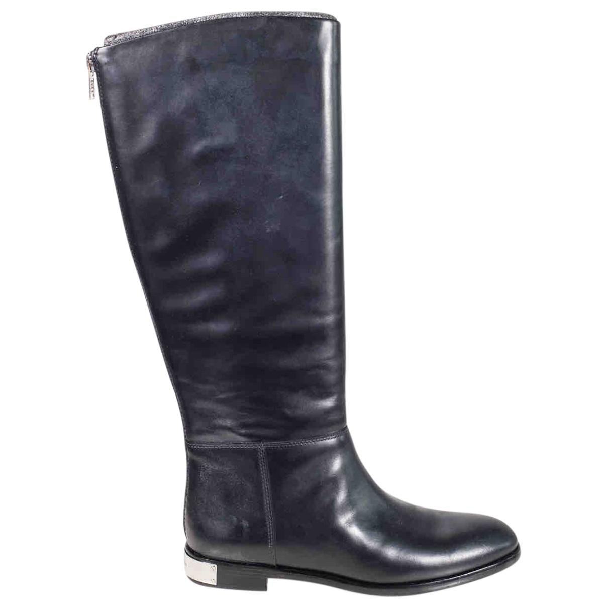 Marc Jacobs - Bottes   pour femme en cuir - noir