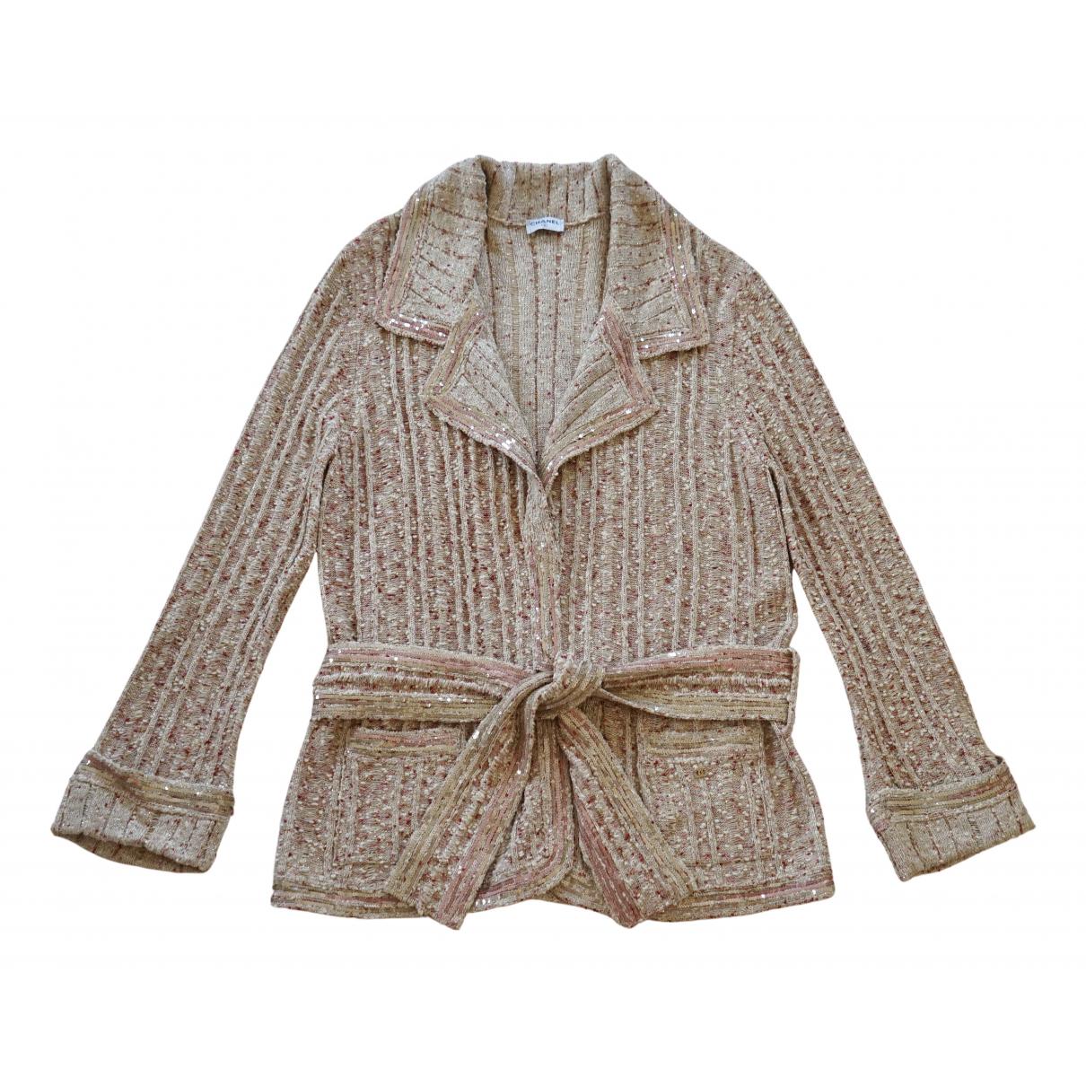 Chanel - Pull   pour femme en coton - multicolore