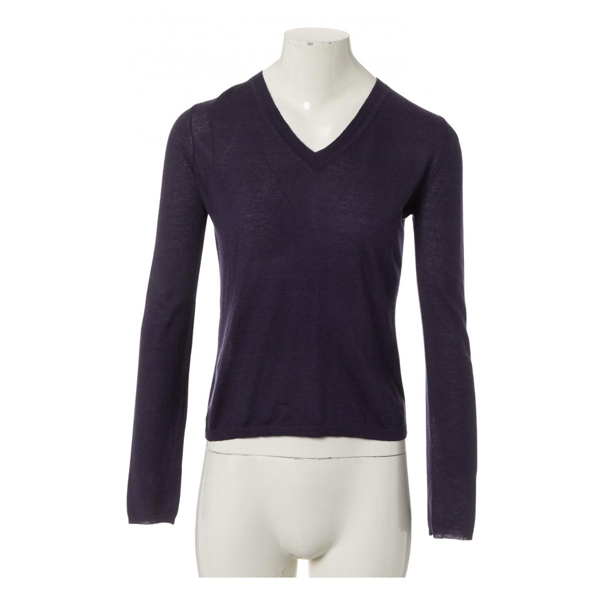 Miu Miu N Purple Wool Knitwear for Women 42 IT