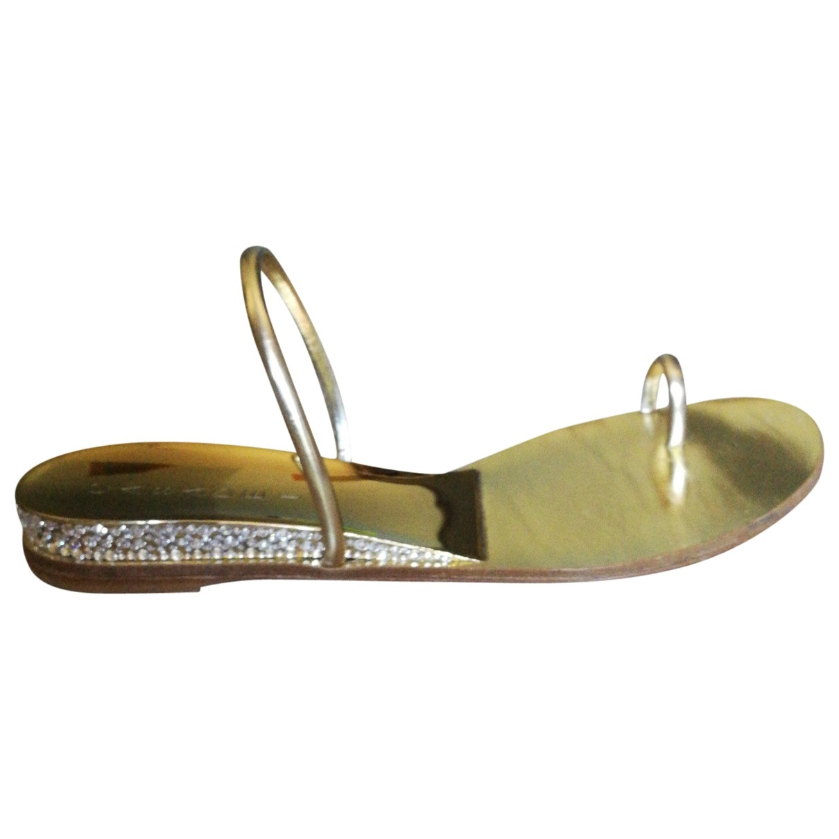 Casadei \N Gold Leather Sandals for Women 39 IT
