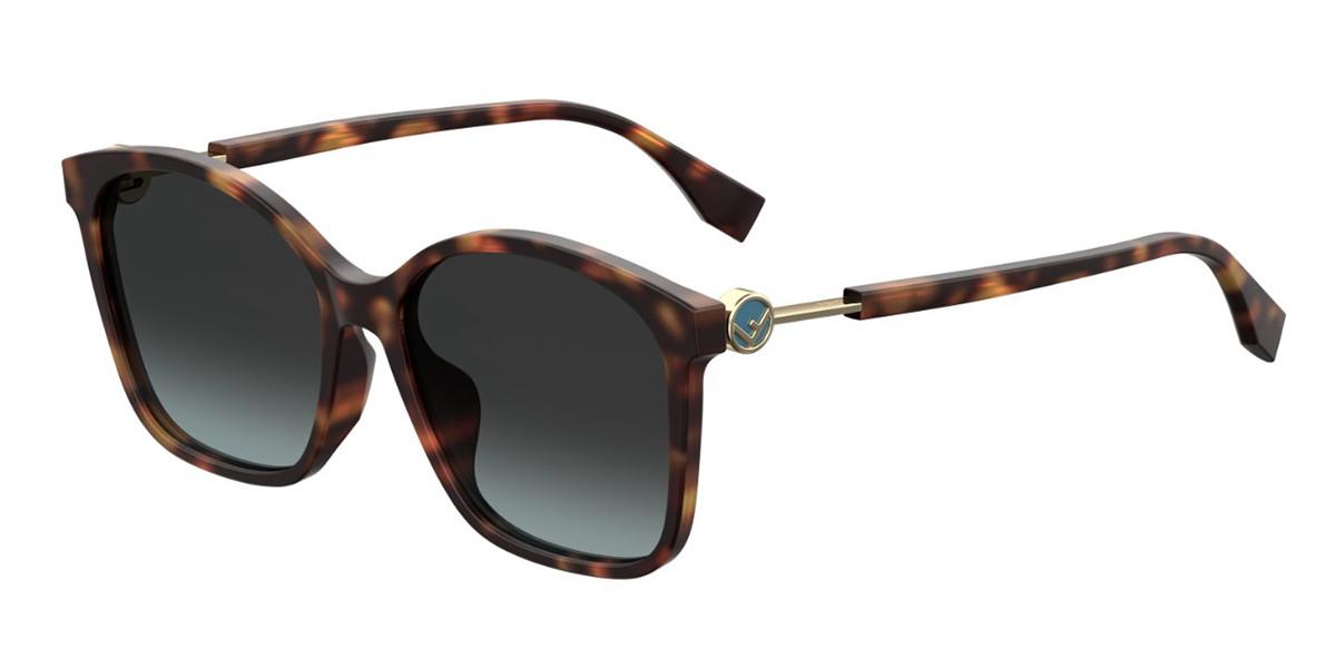 Fendi FF 0361/F/S Asian Fit 086/1I Women's Sunglasses Tortoise Size 57