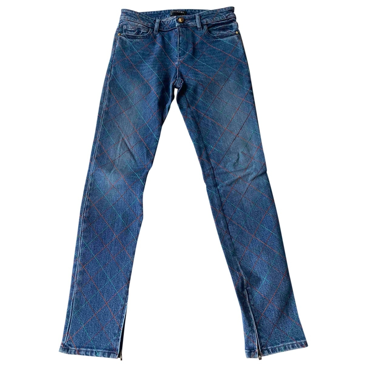 Chanel \N Blue Cotton Jeans for Women 38 FR