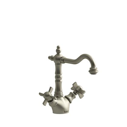 Retro RT00XBN Single Hole Lavatory Faucet with x Cross Handles without Drain 1.5 GPM  in Brushed