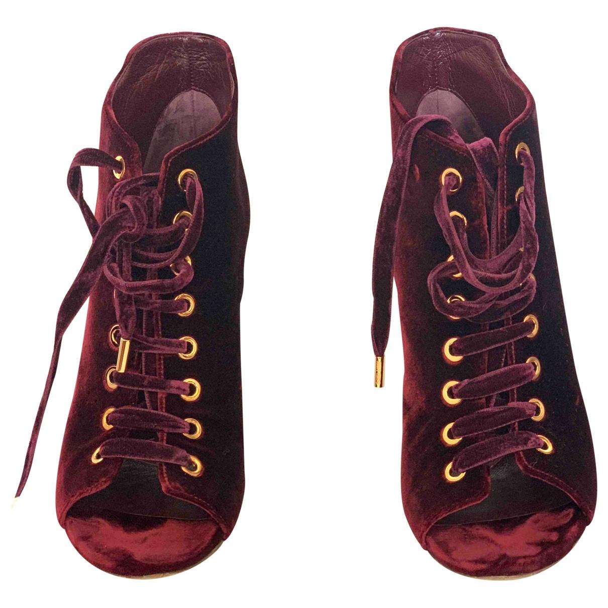 Botas con cordones Mavis de Terciopelo Jimmy Choo