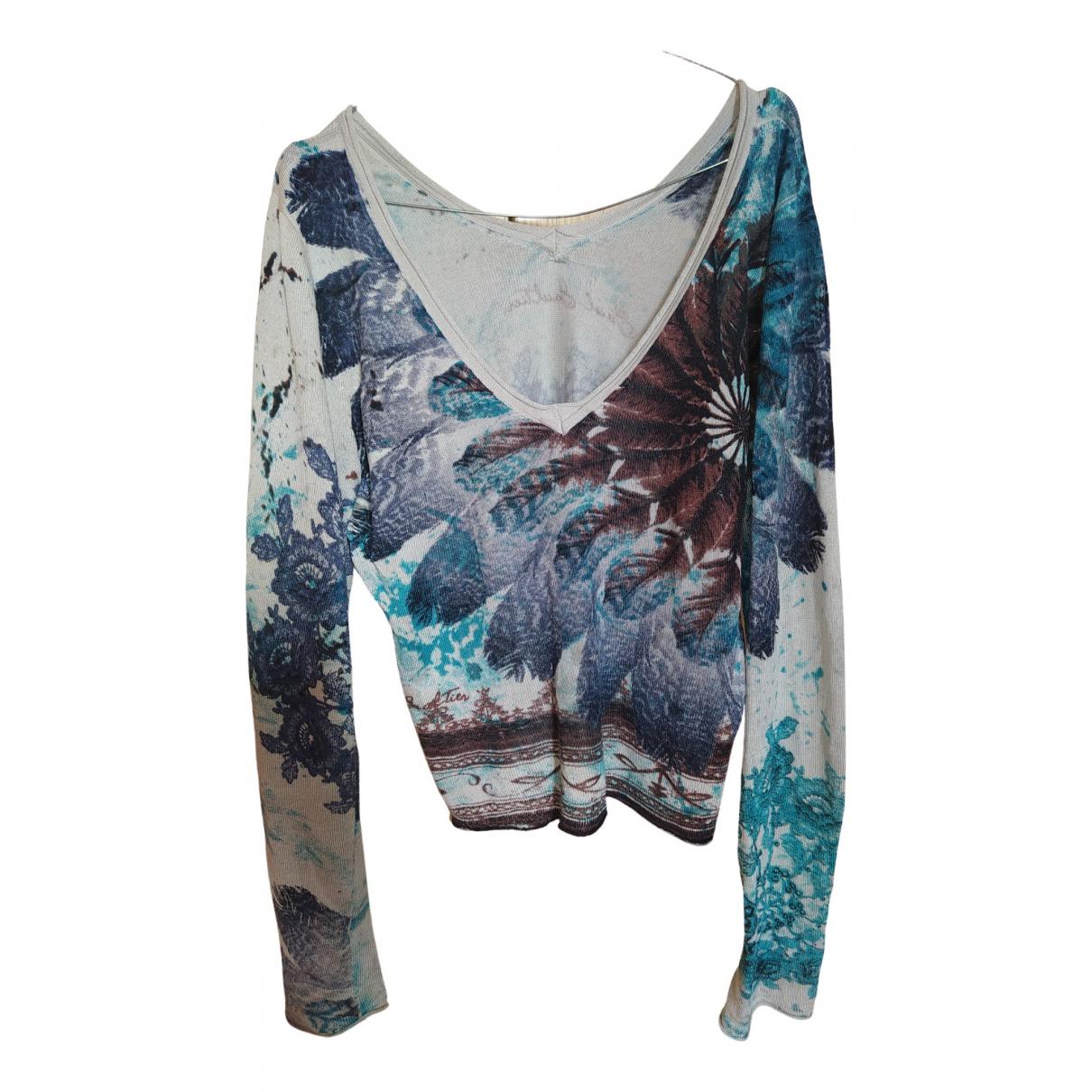 Jean Paul Gaultier - Top   pour femme en laine - multicolore