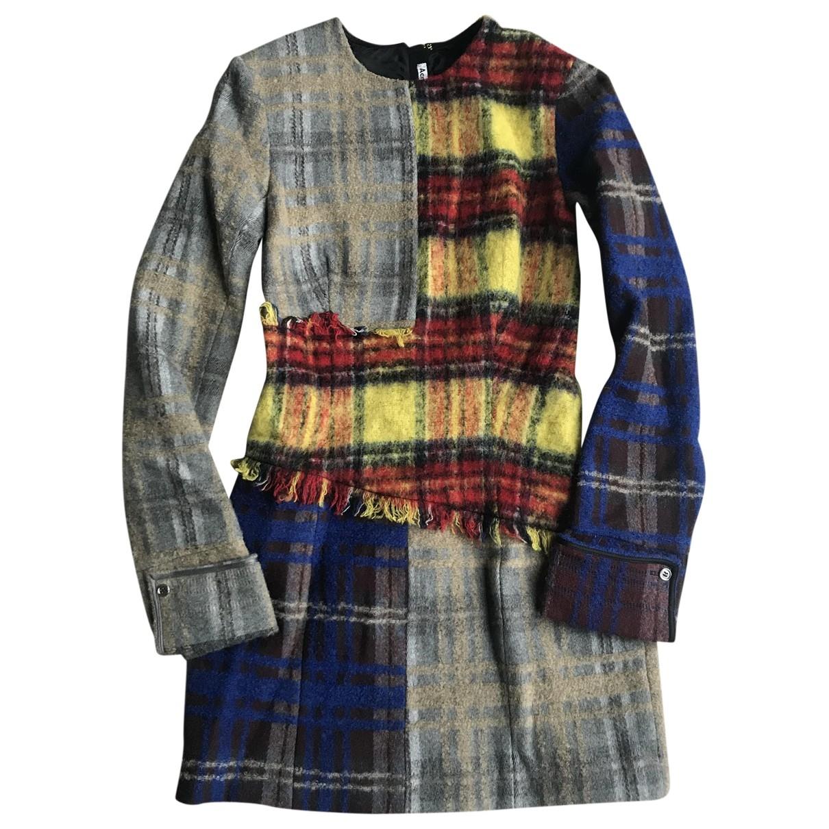 Acne Studios - Robe   pour femme en laine - multicolore