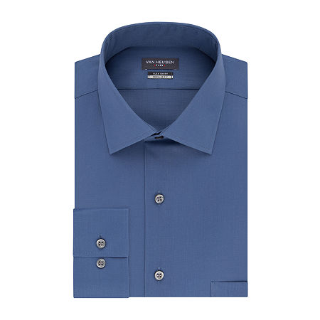 Van Heusen Flex Collar Dress Long Sleeve Shirt - Big & Tall, 18 35-36, Blue