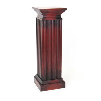 BM215617 Square Shaped Column Pedestal with Reeded Design