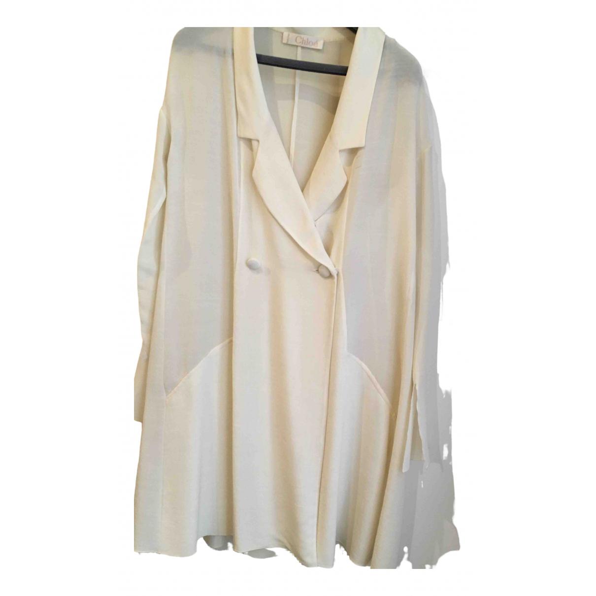 Chloe - Veste   pour femme en laine - ecru