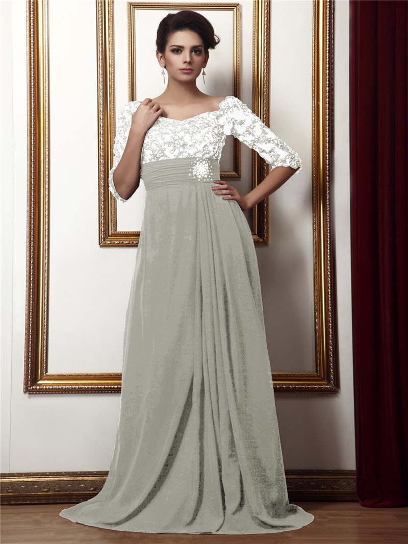 Ericdress Empire Waist Half Sleeves Mother of the Bride Dress