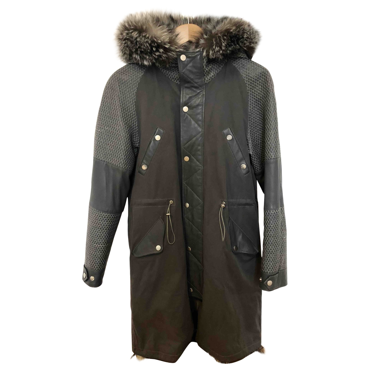 Paul & Joe - Manteau   pour femme en renard - gris