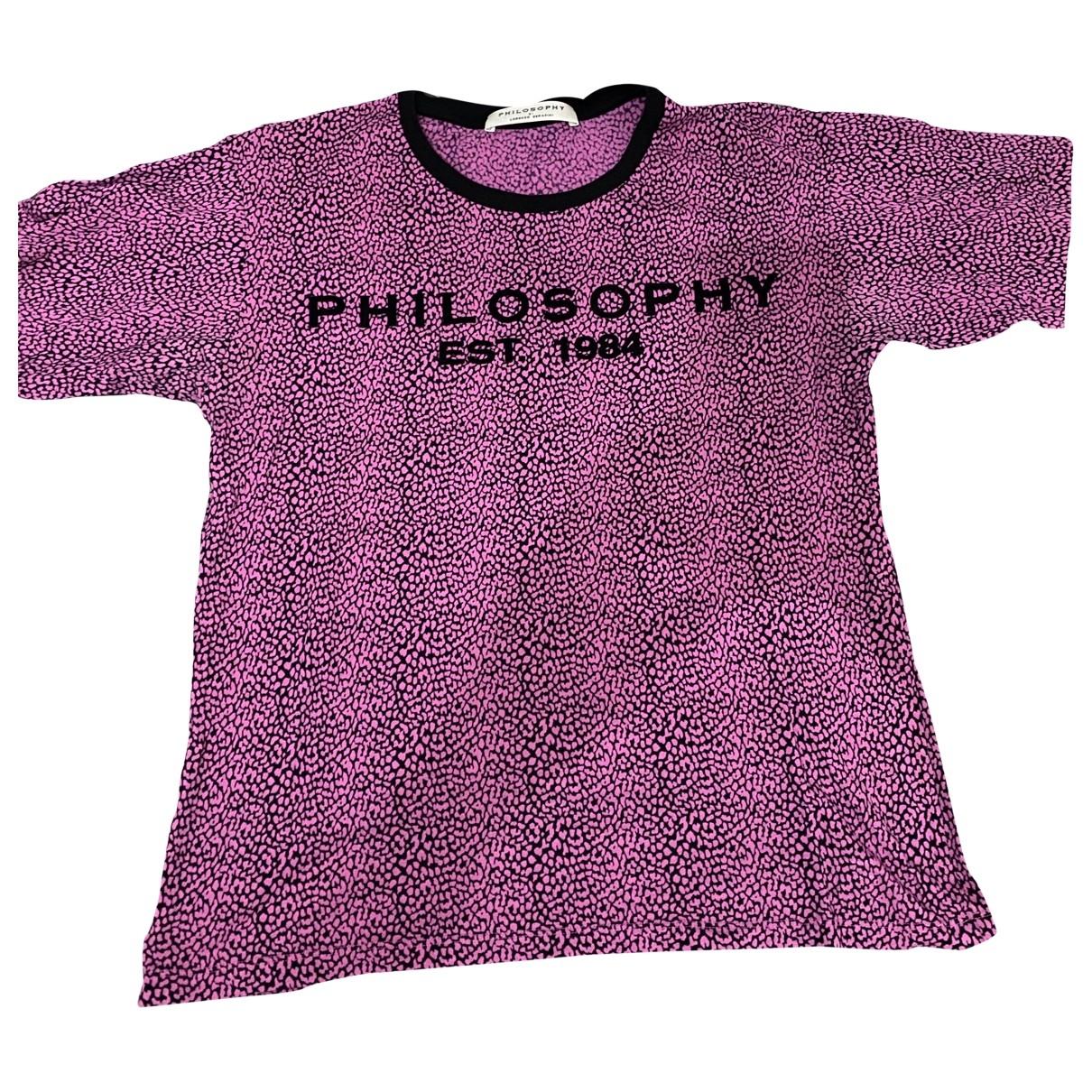 Philosophy Di Lorenzo Serafini - Top   pour femme en coton - rose