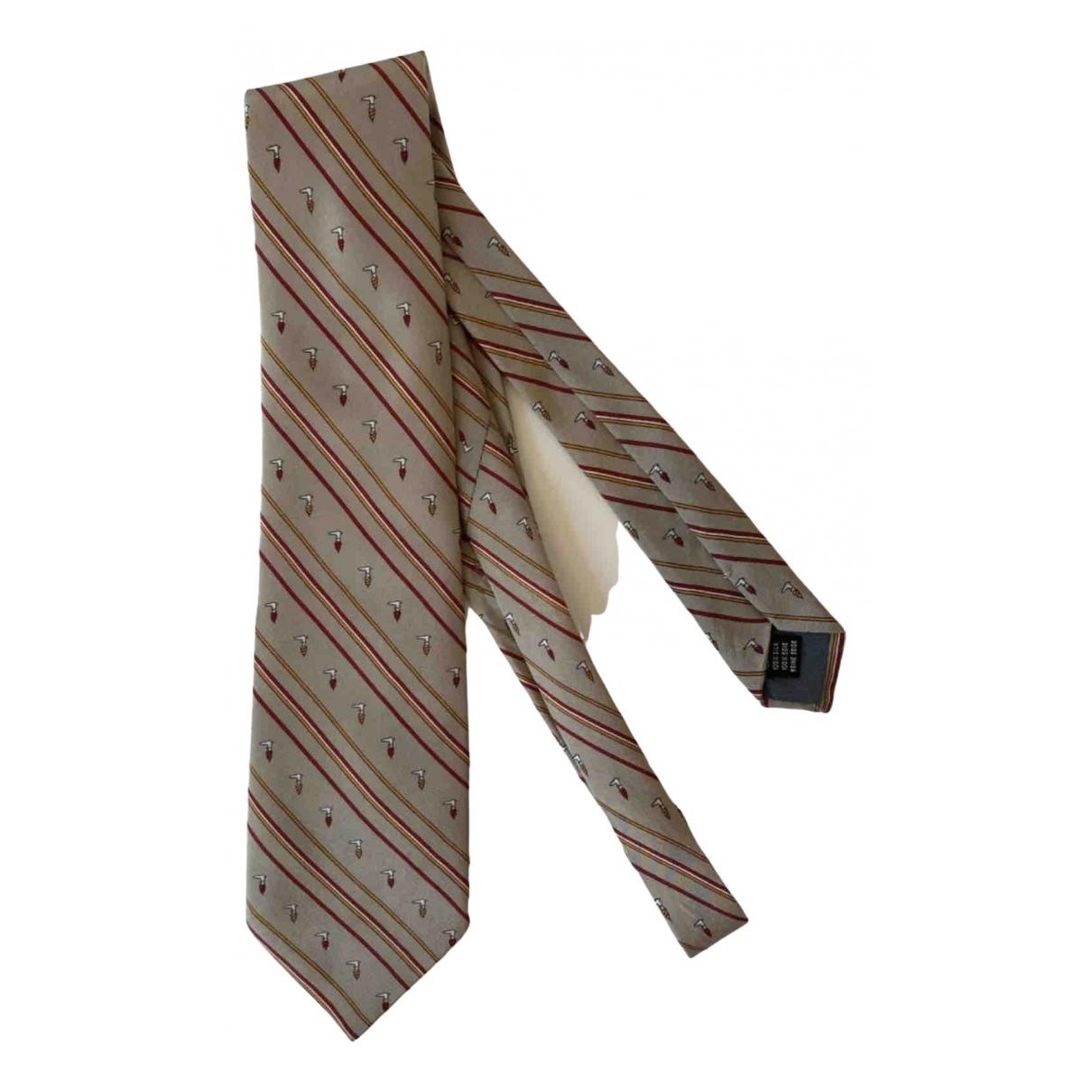 Trussardi - Cravates   pour homme en soie - beige