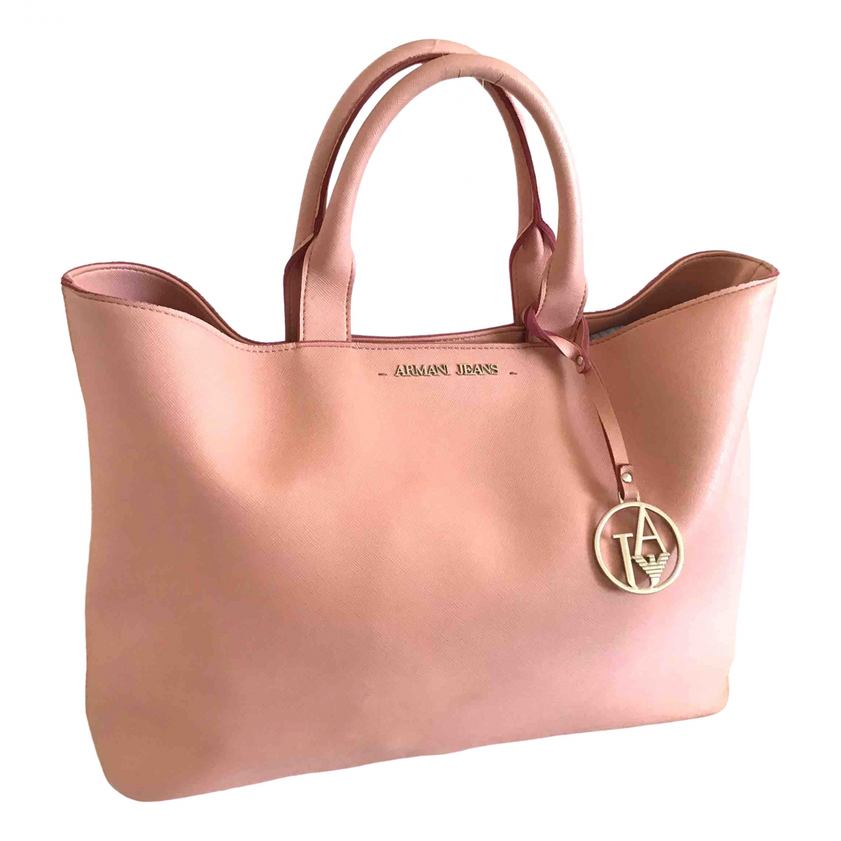 Armani Jeans \N Pink Leather handbag for Women \N
