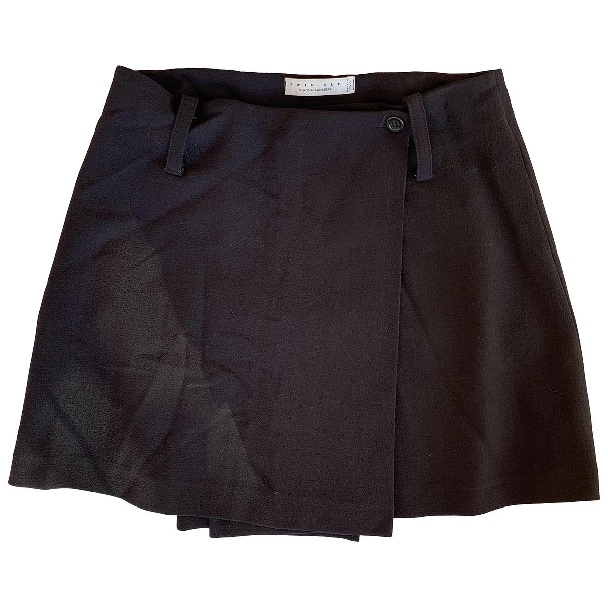 Twin Set - Jupe   pour femme en laine - noir