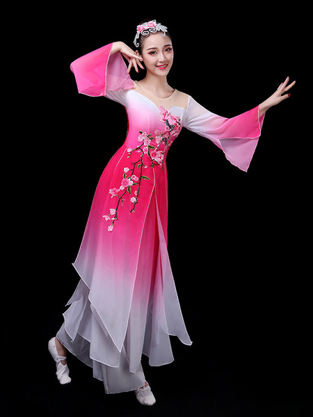 Milanoo Chinese Costumes Traditional Dance Holidays Carnival Costumes 2 Piece Outfit