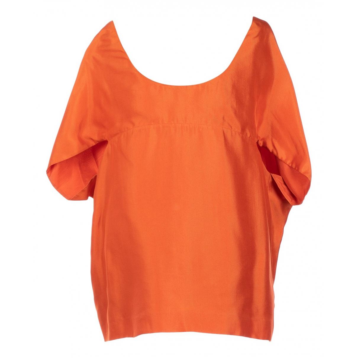 Chloé \N Orange Silk  top for Women 38 FR